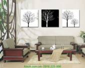 """Tranh đen trắng """"tree of life"""" AmiA 2028"""