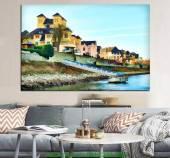 Tranh canvas khung cảnh thành phố AmiA 4186