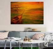 Tranh nghệ thuật con thuyền AmiA 4189