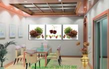 Tranh treo phòng ăn trái nho AmiA 1175