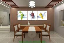 Tranh quả nho tươi ngon trang trí phòng ăn AmiA 1176