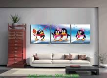 Bộ tranh treo phòng trẻ em chim cánh cụt AmiA 1179