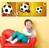 Bộ tranh bóng đá treo phòng của bé AmiA 1180
