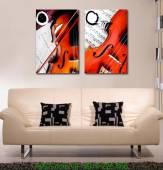 Tranh cây đàn ghi ta trang trí quán cafe AmiA 1188