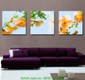 Tranh hoa lá trang trí phòng khách, phòng ngủ đẹp