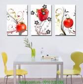Tranh treo phòng ăn quả hồng AmiA 1205