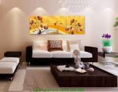 Tranh trang trí hoa lá nghệ thuật bộ 3 tấm AmiA 1220