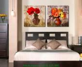 Tranh bình hoa ghép bộ hiện đại AmiA 1221
