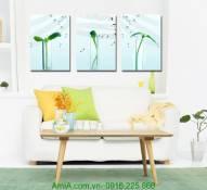 Bộ tranh ươm mầm trang trí nội thất hiện đại AmiA 1226
