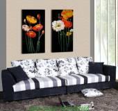 Tranh hoa lá ghép bộ 2 tấm AmiA 1250