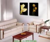 Tranh in ép gỗ hoa lá nghệ thuật AmiA 1251