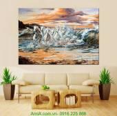 Tranh canvas mã đáo thành công AmiA 4195