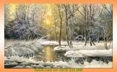 Tranh phong cảnh đẹp tuyết mùa đông AmiA 4196