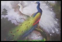 Tranh vải canvas đôi chim công AmiA 4199