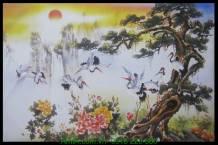 Tranh canvas tùng hạc diên niên AmiA 4201