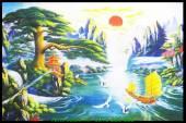 Tranh thuận buồm xuôi gió in vải canvas AmiA 4204