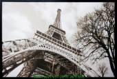 Tranh tháp eifel in vải canvas đen trắng AmiA 4205