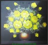 Tranh vải in canvas binh hoa đẹp AmiA 4214