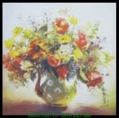 Tranh canvas bình hoa đẹp nghệ thuật AmiA 4216