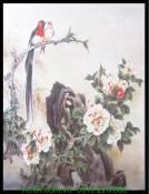 Tranh canvas đôi chim trên núi AmiA 4221