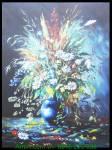 Tranh canvas treo trang trí bình hoa nghệ thuật AmiA 4222