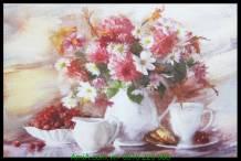 Tranh bình hoa nghệ thuật canvas treo phòng ăn đẹp