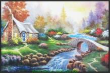 Tranh canvas ngôi nhà châu âu tuyệt đẹp AmiA 4226