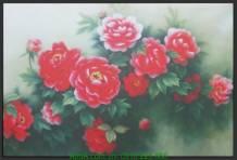 Tranh canvas đẹp hoa mẫu đơn AmiA 4227