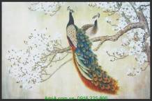 Tranh canvas nghệ thuật đôi chim công AmiA 4231