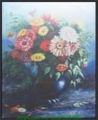 Tranh canvas nghệ thuật bình hoa đẹp AmiA 4233