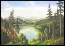 Tranh canvas đẹp phong cảnh thiên nhiên AmiA 4234