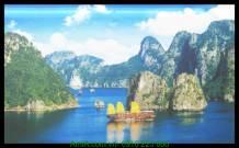 Tranh phong cảnh đẹp vịnh hạ long canvas AmiA 4238