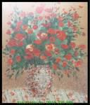 Tranh bình hoa nghệ thuật in vải canvas AmiA 4241