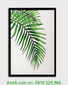 Bức tranh khung chiếc lá dừa AmiA 1256