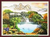 Bức tranh vẽ sơn thủy hữu tình AmiA TSD 222