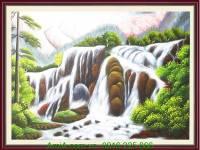 Tranh vẽ thác nước phong thủy đẹp AmiA TSD 223