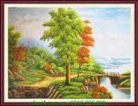 Tranh vẽ phong cảnh thiên nhiên tuyệt đẹp TSD 226