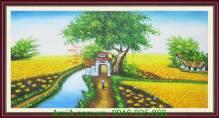 Tranh vẽ đề tài phong cảnh quê hương TSD 227