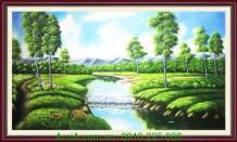 Tranh vẽ chú nai trong rừng xanh TSD 228