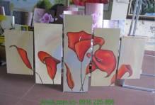 Tranh ghép bộ sơn dầu hoa rum nghệ thuật TSD 253