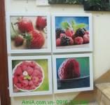 Bộ tranh dâu trây treo tường phòng ăn AmiA 1278