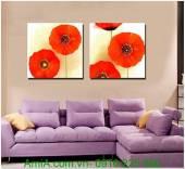 Tranh ghép bộ hoa poppy hai tấm AmiA 1294