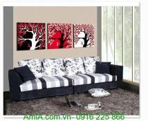 Tranh treo tường ghép bộ 3 tấm cây đời AmiA 1310