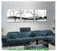 Tranh ghép bộ cây đời nghệ thuật treo tường AmiA 1311