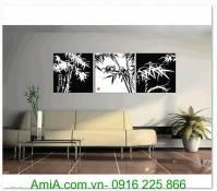 Tranh ghép bộ cây trúc đen trắng AmiA 1312