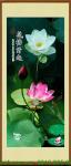 Tranh bông hoa sen trắng hồng khổ dọc Amia 1322