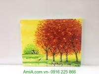 Bức tranh vẽ sơn dầu bốn mùa thu vàng TSD 304