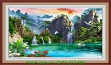 Tranh phong cảnh đẹp thiên nhiên sơn thủy hữu tình AmiA 1328
