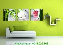 Tranh đôi chim thiên nga treo tường lãng mạn AmiA 1334