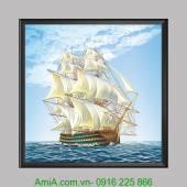 Tranh treo thuận buồm xuôi gió hợp phong thủy AmiA 1340